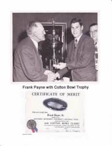 Frank jr. Cotton Bowl trophy
